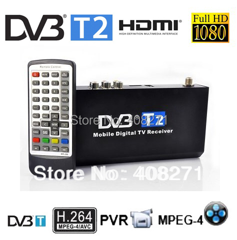 Thailand RussiaMobile Digital Car DVB-T2 H.264 MPEG4 HD Tuner 40km/h TV Receiver Box set top - SinHo Electronics Technology Co., Ltd. store