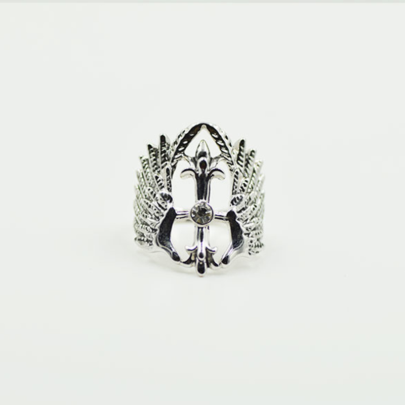 Retro angel wings ring fashion vintage punk style alloy Vintage style fashion rings