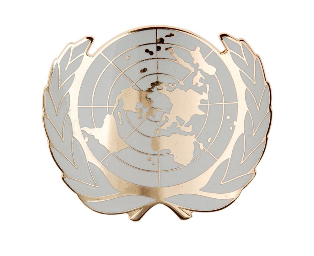 THE UNITED NATIONS BERET CAPS GOLDEN NEEDLE BADGES-3106(China (Mainland))