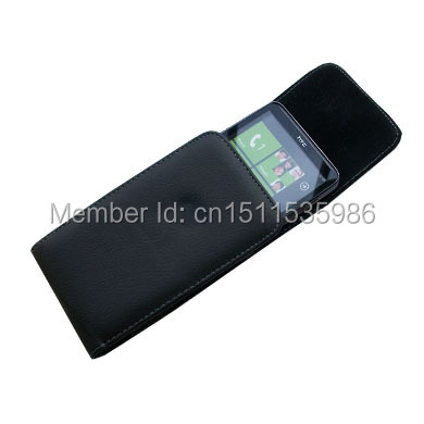 Leather Belt Clip Holster Pouch Case For BlackBerry Curve 8520(China (Mainland))