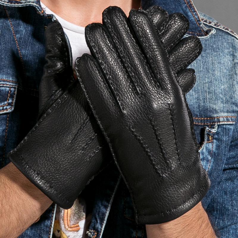 Deerskin Clothing Men Winter Mens Deerskin Gloves