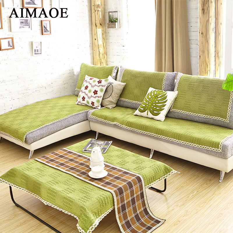 Aliexpresscom buy fashion pastoral style cotton plaid for 6 cushion sofa covers