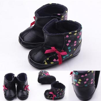 Winter Warm Baby Kids Shoes Snow Boots Girls Zapatos Bebes Flat Toddlers Newborn Knotbow Bow Knot Children Infant