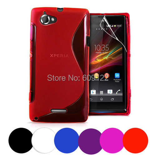 High Quality Soft Silicone TPU Gel S Line Case for Sony Xperia L S36H C2105 C2014 Back Cover Skin for Sony Xperia L S36H + Gift(China (Mainland))