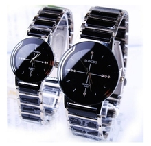 Fashion LONGBO Brand Rhinestone Exquisite Gift Top Quality Ceramic watch Woman men Lovers' Watch Commercial quartz clock 8493