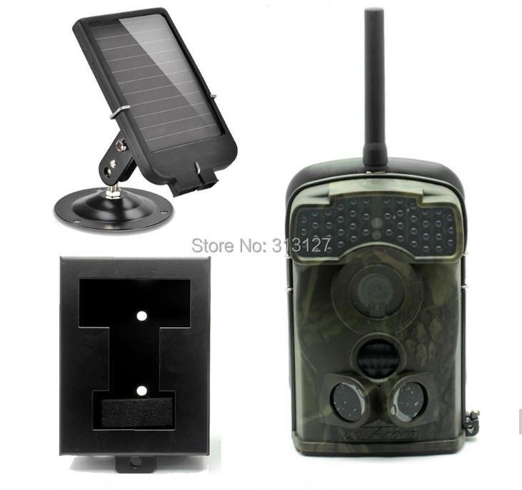 LTL 5310WMG 100 degree Wide angel 940NM 12MP MMS/GPRS Digital game hunting trail camera wild camera+Solar charger+Iron box(China (Mainland))
