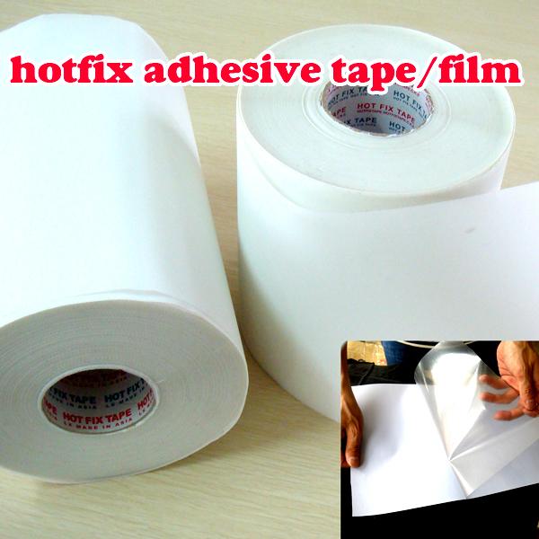 Hot fix paper & tape 5M length/Lot ,32CM wide adhesive iron heat transfer film super quality HotFix rhinestonesDIY tools Y2642(China (Mainland))