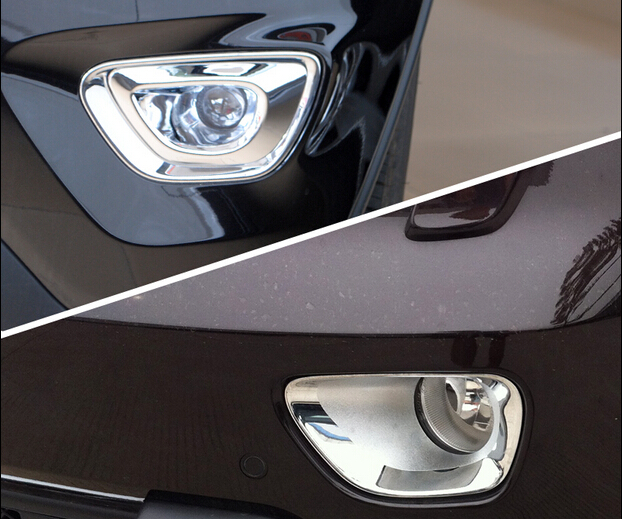 Exterior Chrome Accessories For Jeep Grand Cherokee Headlights Front Bumper Fog Lamp Light