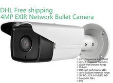 Wholesale English Version IP Camera 4.0 megapixel V5.3.3 Multi Language Bullet Camera IP Camera POE DS-2CD2T42WD-I8 WDR Function(China (Mainland))
