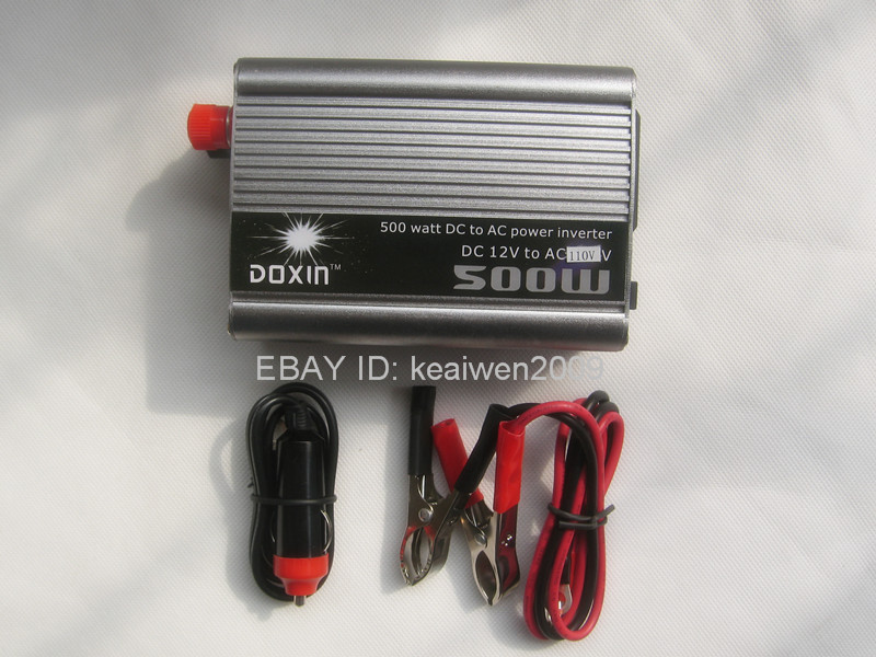 500W inverter DC 12V to AC 110V for solar power system solar panel charge power free shipping(China (Mainland))