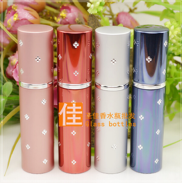 Capacity 10ml 200pcs/lot factory wholesale high quality metal diamond perfume spray have many design(China (Mainland))