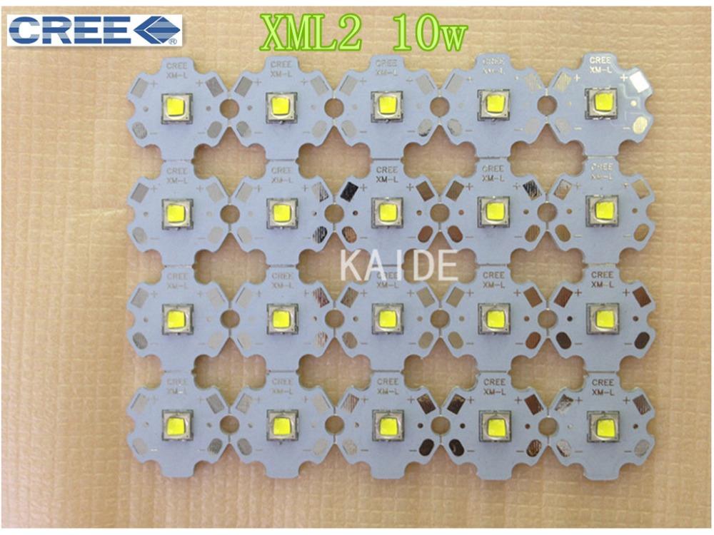 original CREE XML2 T6 U2 10w dia20mm PCB high power led DIY flashlight outdoor lighting to shoot the light 20pcs/lot(China (Mainland))