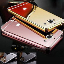 Buy Xiaomi Redmi 2 Case NEW Luxury Gold Silver Plating Aluminum Frame + Mirror Acrylic Case Back Cover Redmi 2 Phone Cases for $2.79 in AliExpress store