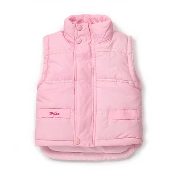 Retail 2016 new Baby boys girls polo winter coat Kids warm Vest children thick Jacket 4 color to chose suit for 2-7 years old(China (Mainland))