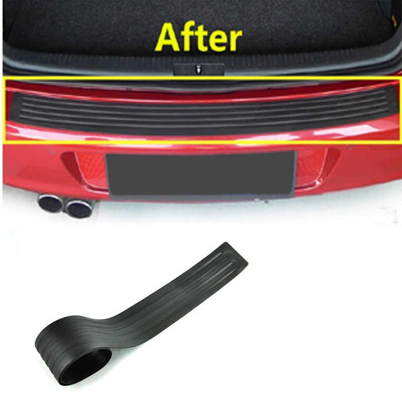 Car Rear Bumper Sticker Rear Trunk Protect Guard Auto Accessories Rubber Car Protection For Any Car Universal 1pc per set(China (Mainland))