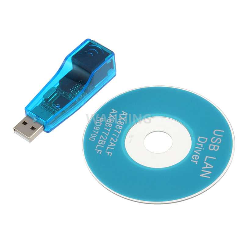 USB To LAN RJ45 Ethernet 10/100Mbps Network Card Adapter For Win7 Win8 Android Tablet PC Blue HY1208(Hong Kong)