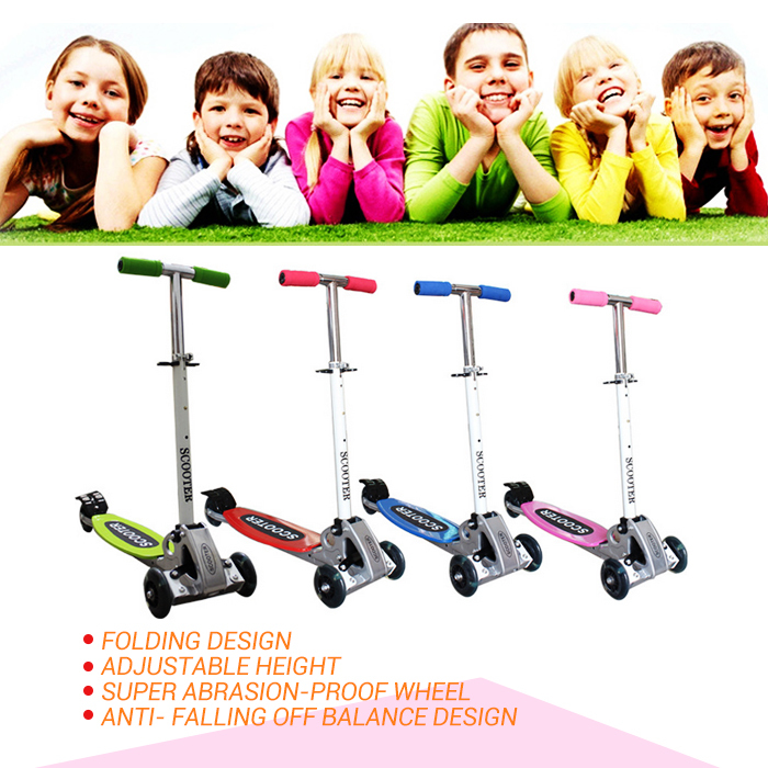 2015 new arrival Three wheels Balance scooter Folding size 2 - 12 years old Children Safety scooter Adjustable Height(China (Mainland))