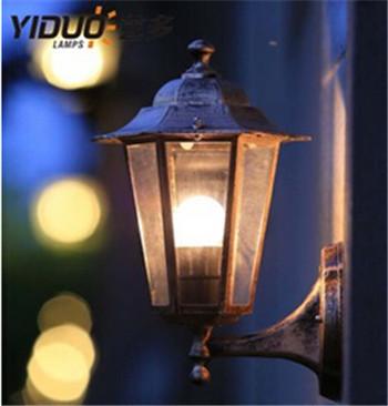 European hexagonal outdoor wall lamp porch lights villa balcony garden vintage waterproof wall lamp IP67 e27 wall lights DY-1451<br><br>Aliexpress