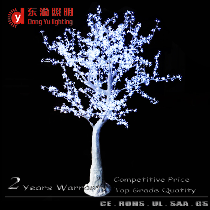DongYu outdoor waterproof artificial white branch led cherry blossom tree light(China (Mainland))