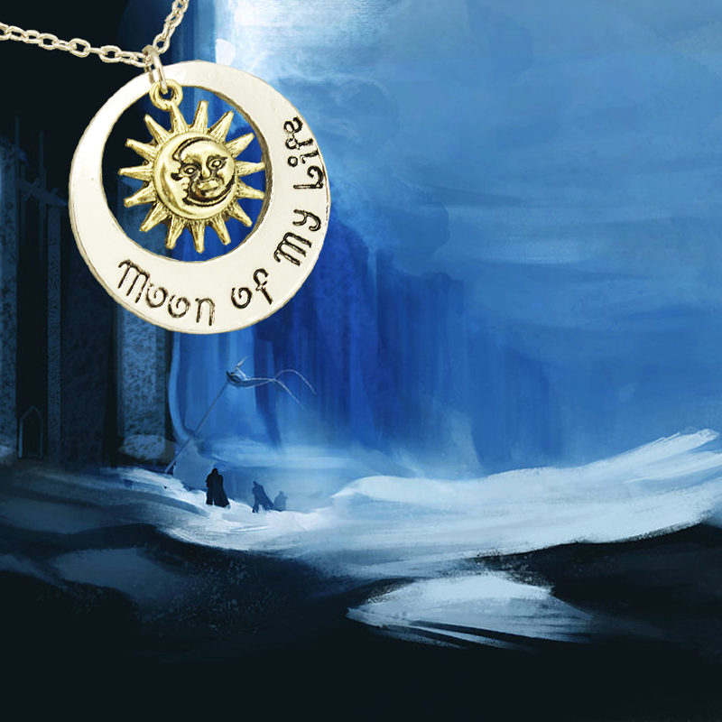 Hot Selling Factory Stock Jewelry Game Of Thrones My Life's Sun And The Stars Necklaces & Pendants Creative Vintage Necklace(China (Mainland))