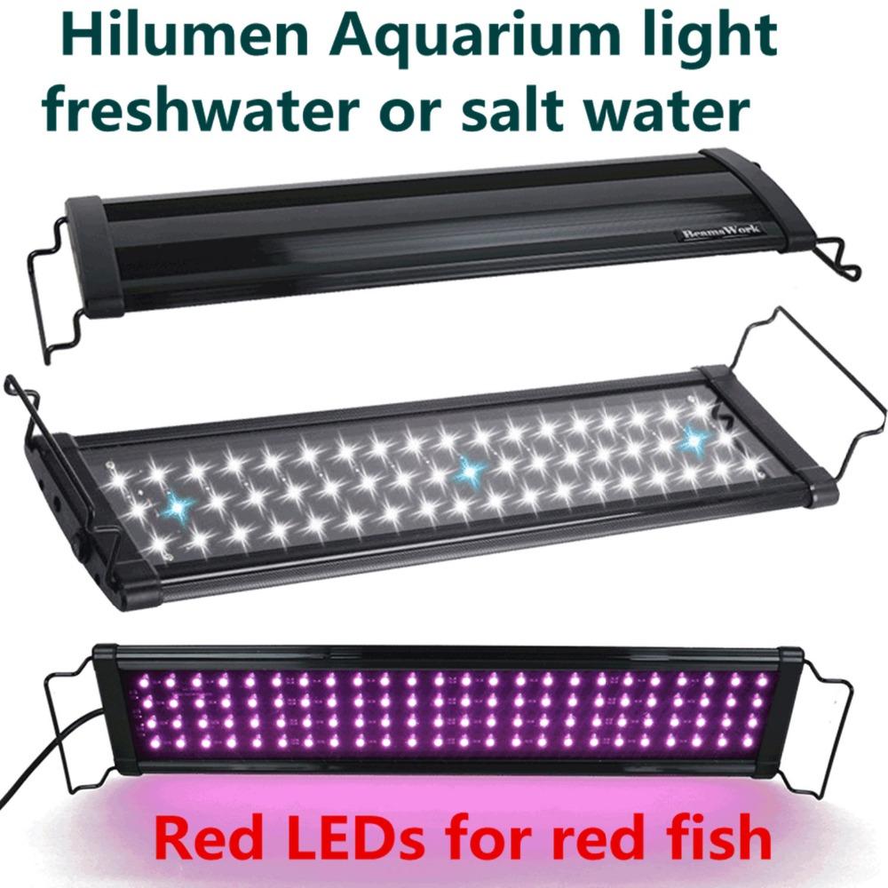 "12"" - 18""/30CM-45CM Hi Lumen LED freshwater plant saltwater marine aquatic Aquarium Fish tank LED lighting fixture lamp Colorful(China (Mainland))"