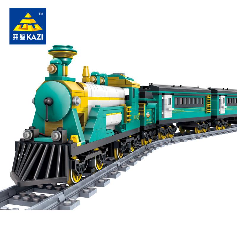 2017 KAZI Australia Puffing Billy steam train Building Blocks 851pcs DIY Track train bricks Model children Educational toys(China (Mainland))