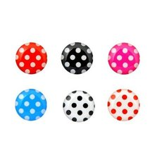 6 in 1 Pack Colorful Polka Dot Pattern Soft Home Button Stickers  for iphone, for ipod,(China (Mainland))