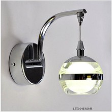 New Arrival Unique And Novelty Led Wall Lamps Acrylic Ball Bedroom Night Wall Lights For Home/Pathway With 3W Led Bulb(China (Mainland))