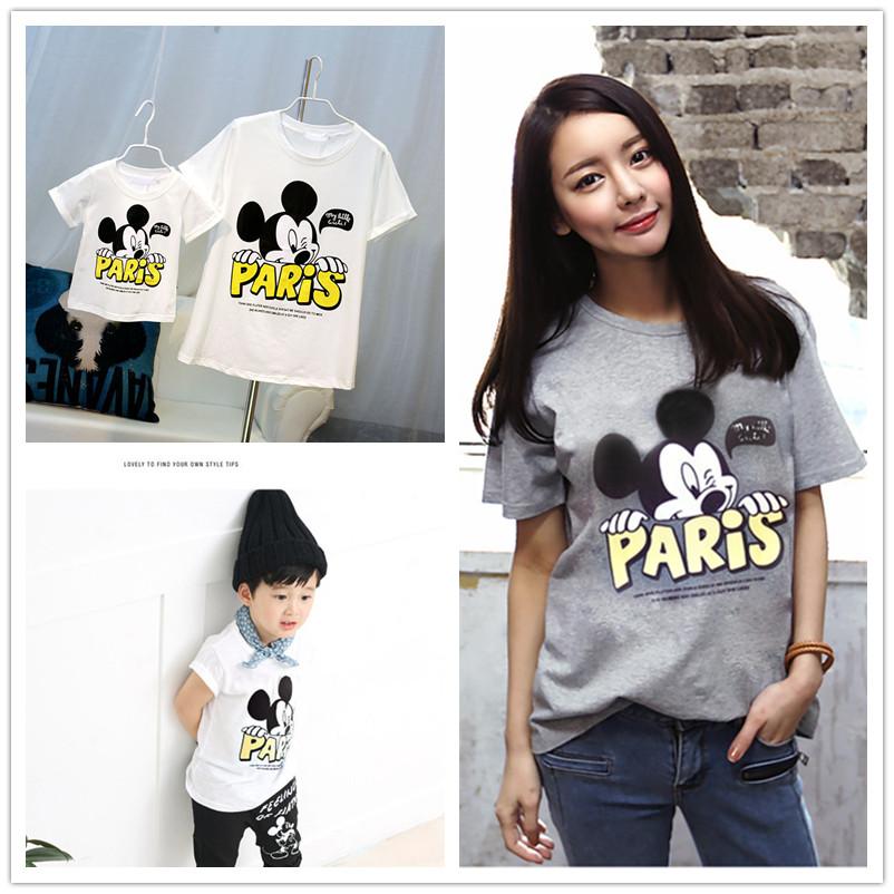 font b Family b font Look Miki Mouse T Shirts Summer font b Family b
