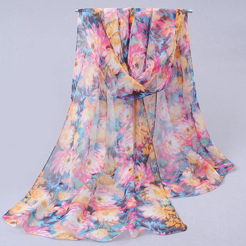 2014New foulard desigual Spring autumn thin silk scarves chiffon georgette women scarf summer sun hijab headscarf Headband FQ031(China (Mainland))
