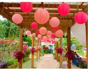 Wholesale - Free shipping 30pcs 30cm(12inches) Chinese round paper lantern wedding lantern festival decoration(China (Mainland))