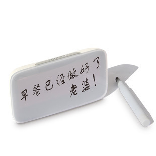 Creative Sound Control LED Luminous Snooze Digital Alarm Clock Desk Table Clock Message Board(China (Mainland))