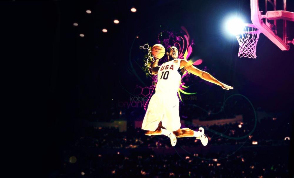 2016 Free shipping famous basketball player Kobe dunk USA fabric cloth wall poster print home wall decoration(China (Mainland))
