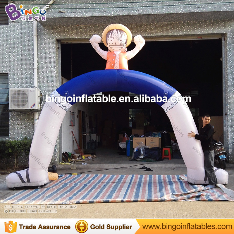 5M Oxford Inflatable Luffy Arch Inflatable Archways with Fan Blower for Outdoor Decoration One Piece inflatable fidget toys(China (Mainland))