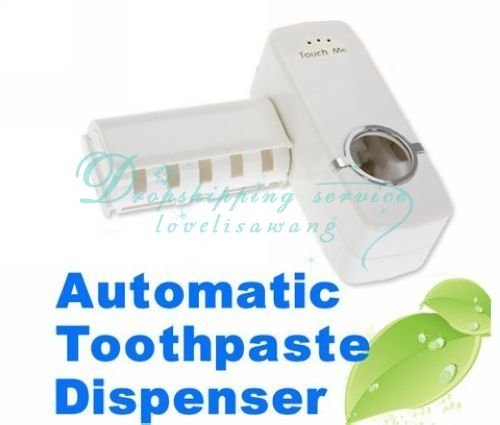 Drop Shipping /Free Shipping Hands Free Automatic Toothpaste Dispenser Brush Holder