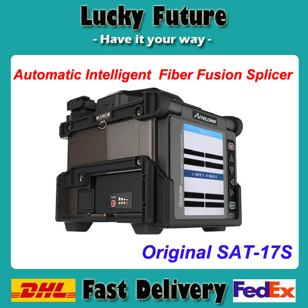 Free Ship Aitelong SAT-17S Spanish and English Version Fiber Optic Splicing Machine Fusion Splicer Fusionadora de Fibra Optica(China (Mainland))