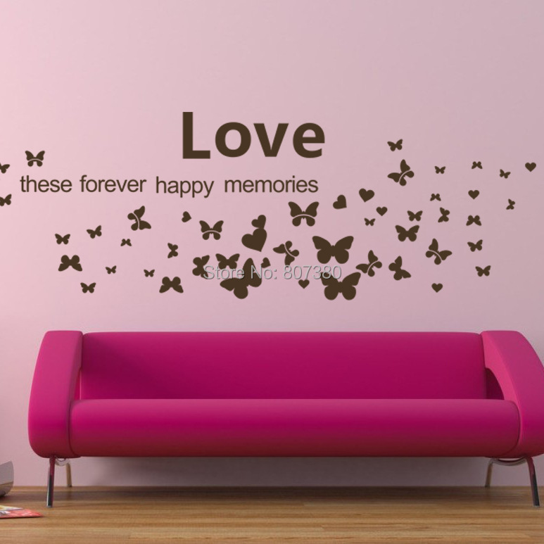 Flying Butterfly Removable Wall Stickers Houseware Decal Home Decoration - Rose-Jewelry store