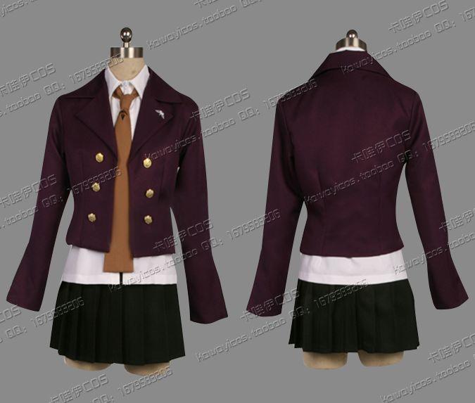 [ Custom Made ] Fashion School cosplay Dangan ronpa Cos uniform Kirigiri Kiyouko clothes Halloween partyОдежда и ак�е��уары<br><br><br>Aliexpress