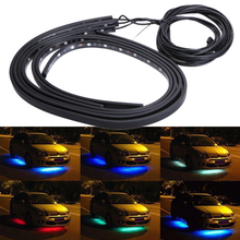 Buy DC 12V RGB 5050SMD LED Light Strip Automotive Atmosphere Lights Car Interior Lamp Wireless Music Control 7 Color Chassis Light for $24.94 in AliExpress store