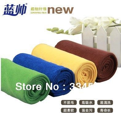 5pcs/lot Free shipping Car Wash Microfiber towel 70 * 30 car wash towel Cleaning towel high quality automotive products(China (Mainland))