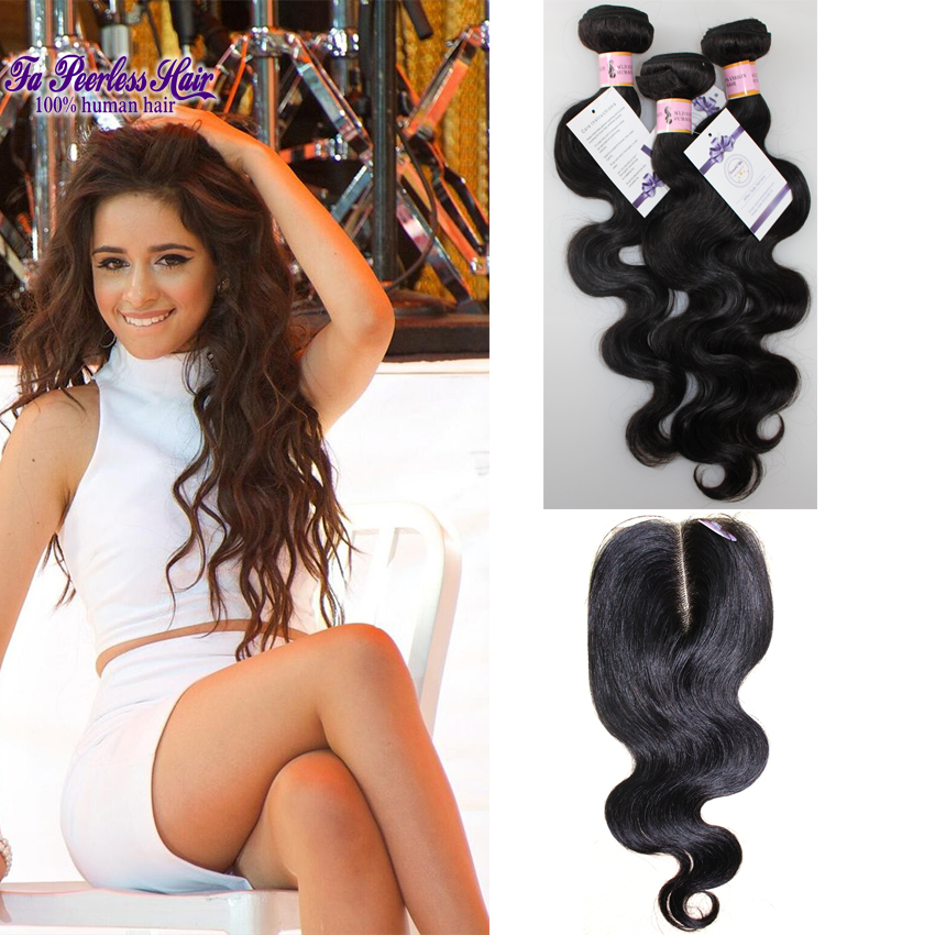 Brazillian Virgin Hair Body Wave 3 Bundles With Closure 7a Unprocessed Virgin Brazilian Body Wave Closure Tissage Cheveux Humain<br><br>Aliexpress