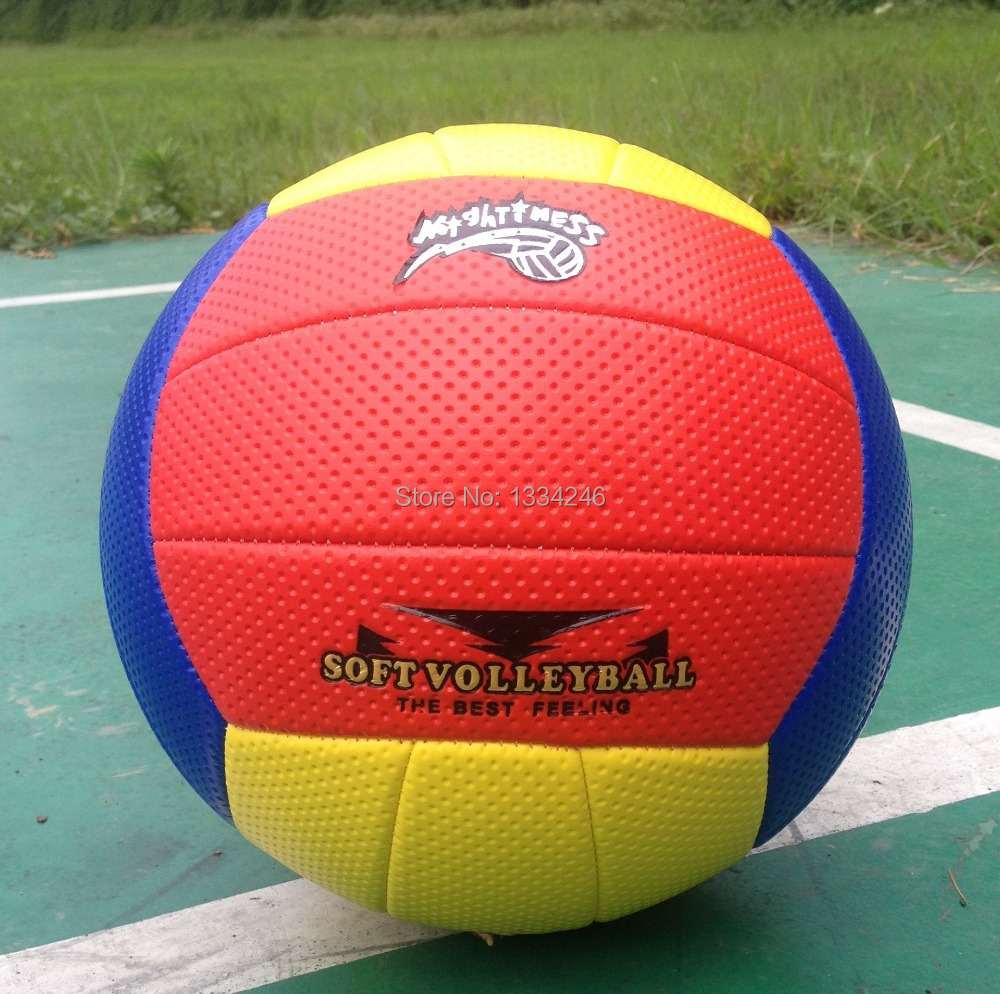 Free Shipping 2014 new Official Volleyball Beach Volleyball Soft volleyball High Quality ball 18 Panels Match Volleybal(China (Mainland))