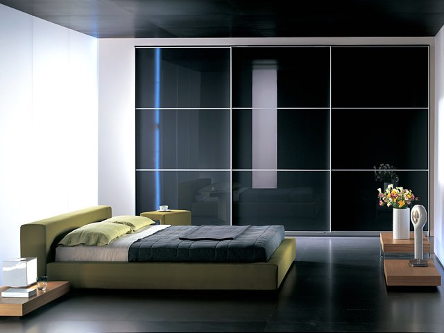 Built in wardrobe with sliding glass door(China (Mainland))