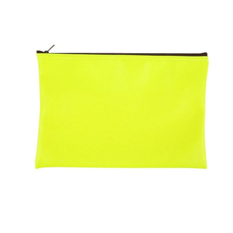 New Fashion Clutch Bag Neon Yellow Zipper Simple Envelope Bag Women's Handbags Day Clutches(China (Mainland))