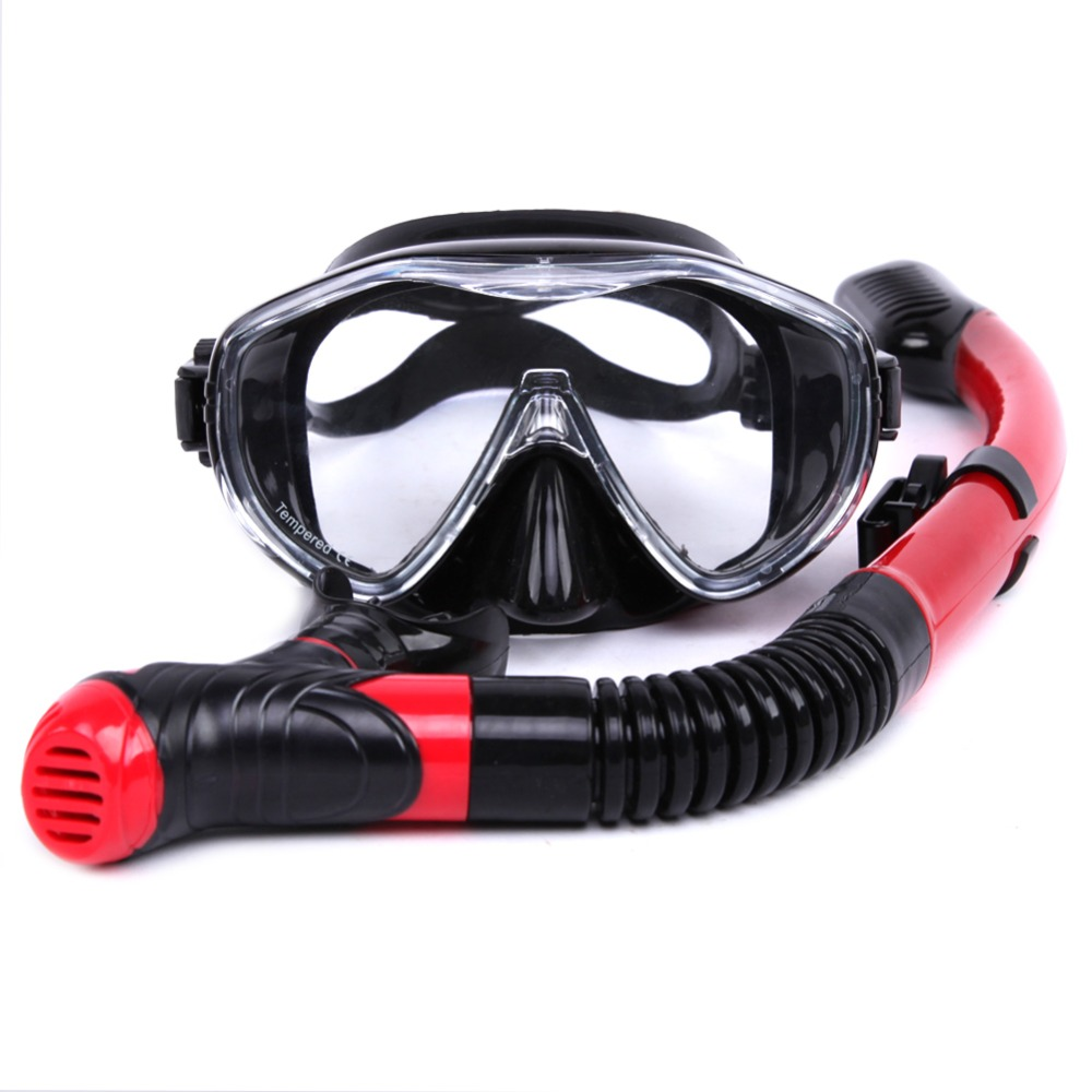 Professional hot sale Whale brand 4 Colors Scuba Diving Mask Snorkel Goggles Set Silicone Swimming Pool Equipment free shipping(China (Mainland))