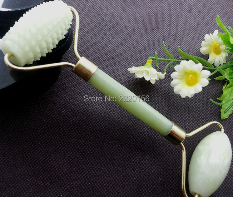 Free Shipping 100pcs/lot Facial Relaxation Slimming Tool Jade Roller Massager For Body Face jade massage stone