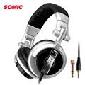 Somic ST 80 Professional Monitor Music Hifi Headphones Foldable DJ Headset Without Mic Bass Noise Isolating