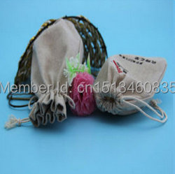 100pcs/lot CBRL jute/linen/flax drawstring bags&pouch for ornament/table PC,Various colors,size customized,wholesale(China (Mainland))