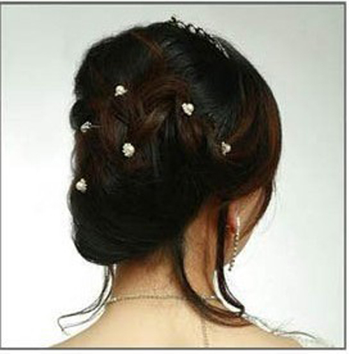 CCF212 Korea Fashion Hair Jewelry For Women High Quality Crystal Alloy Hair Accessories Hair Sticks Mix Color(China (Mainland))