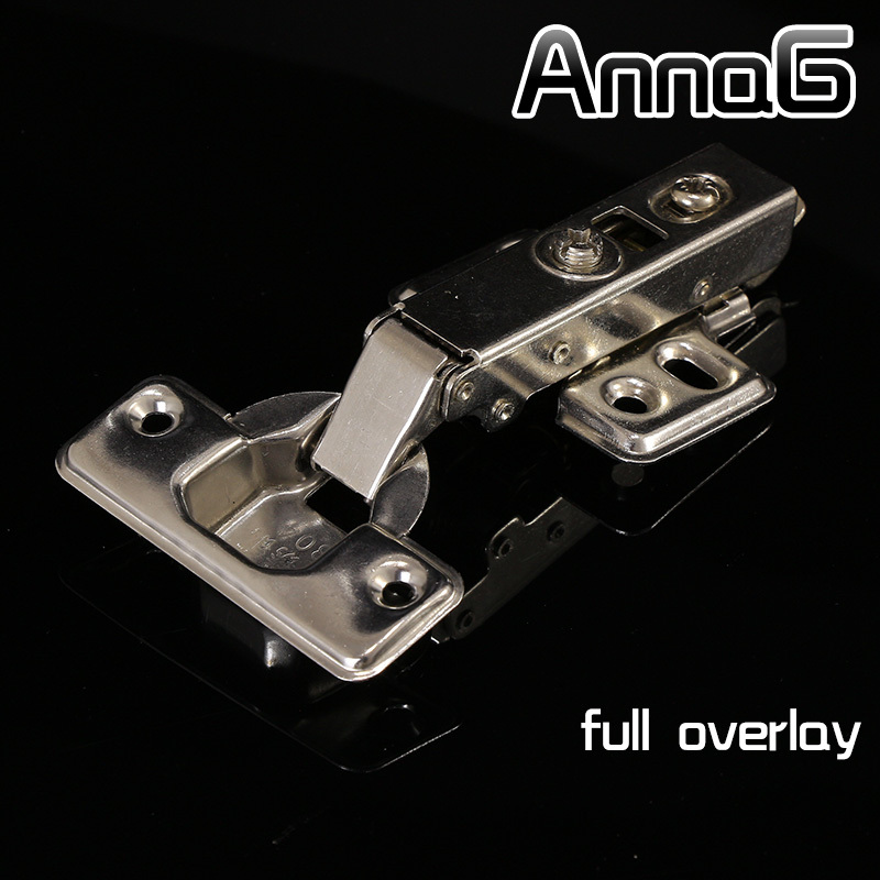 Full overlay Stainless steel cup soft close cabinet hydraulic hinges kitchen door hinges brass(China (Mainland))